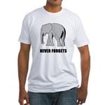 Never Forgets Fitted T-Shirt