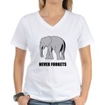 Never Forgets Women's V-Neck T-Shirt