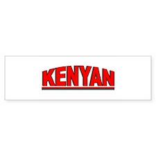 """""""Kenyan"""" Bumper Bumper Sticker"""