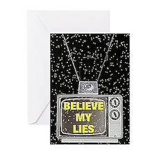 Cute Media lies Greeting Cards (Pk of 10)