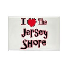 I love the jersey shore red Rectangle Magnet