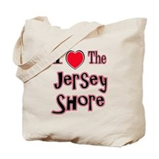 I love the jersey shore red Tote Bag