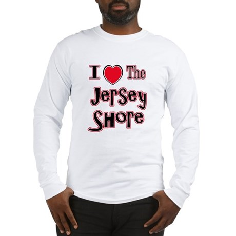 I love the jersey shore red Long Sleeve T-Shirt
