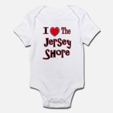 I love the jersey shore red Infant Bodysuit