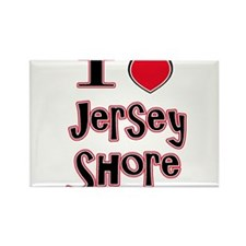 love the shore red Rectangle Magnet