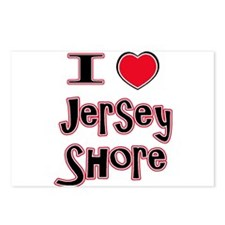 love the shore red Postcards (Package of 8)