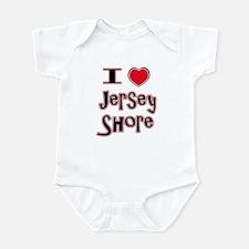 love the shore red Infant Bodysuit