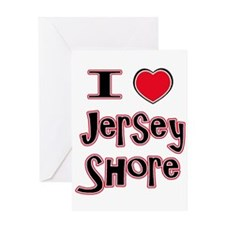 love the shore red Greeting Card