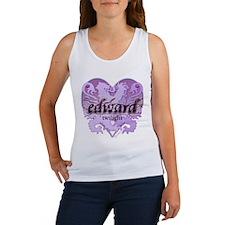 Edward Lion Ribbon Crest Heart Women's Tank Top