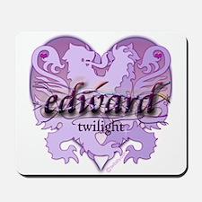 Edward Lion Ribbon Crest Heart Mousepad