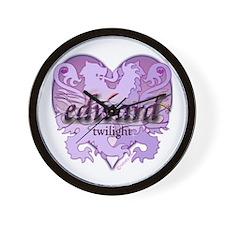 Edward Lion Ribbon Crest Heart Wall Clock