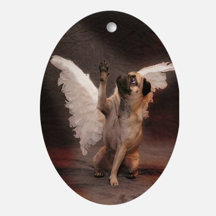Cute Reach Oval Ornament