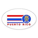 Puerto Rico Vintage Oval Sticker