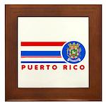Puerto Rico Vintage Framed Tile