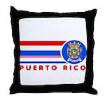 Puerto Rico Vintage Throw Pillow