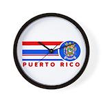 Puerto Rico Vintage Wall Clock