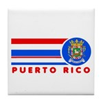 Puerto Rico Vintage Tile Coaster