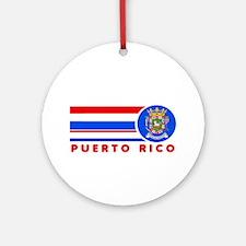 Puerto Rico Vintage Ornament (Round)