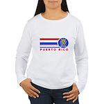 Puerto Rico Vintage Women's Long Sleeve T-Shirt