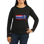 Puerto Rico Vintage Women's Long Sleeve Dark T-Shi