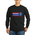 Puerto Rico Vintage Long Sleeve Dark T-Shirt