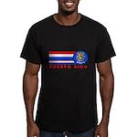 Puerto Rico Vintage Men's Fitted T-Shirt (dark)