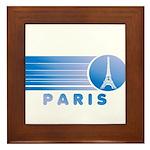Paris Eiffel Tower Vintage Framed Tile