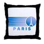 Paris Eiffel Tower Vintage Throw Pillow