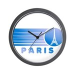 Paris Eiffel Tower Vintage Wall Clock