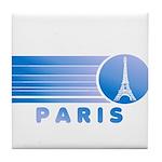 Paris Eiffel Tower Vintage Tile Coaster