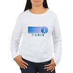 Paris Eiffel Tower Vintage Women's Long Sleeve T-S