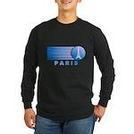 Paris Eiffel Tower Vintage Long Sleeve Dark T-Shir