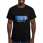 Paris Eiffel Tower Vintage Men's Fitted T-Shirt (d