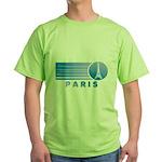 Paris Eiffel Tower Vintage Green T-Shirt