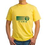 Paris Eiffel Tower Vintage Yellow T-Shirt