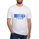 Paris Eiffel Tower Vintage Fitted T-Shirt
