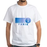 Paris Eiffel Tower Vintage White T-Shirt