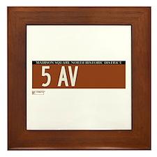 5th Avenue in NY Framed Tile