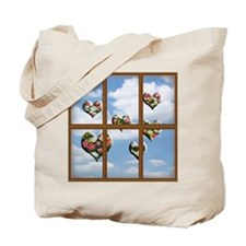 Hearts Outsides My Window Tote Bag