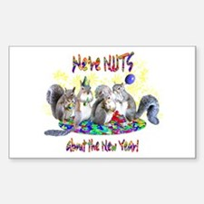 Squirrels NY Rectangle Decal