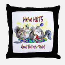 Squirrels NY Throw Pillow