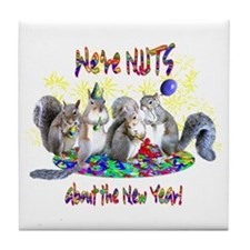 Squirrels NY Tile Coaster