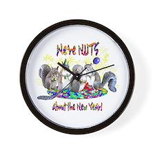Squirrels NY Wall Clock