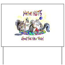 Squirrels NY Yard Sign