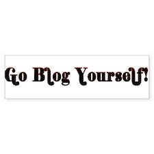 Go Blog Yourself - Bumper Bumper Sticker