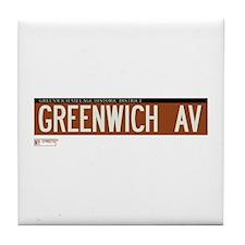 Greenwich Avenue in NY Tile Coaster
