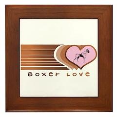 Boxer Love Framed Tile