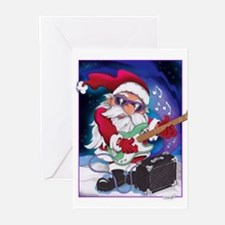 Rockin' Santa Christmas Greeting Cards (Pk of 10)