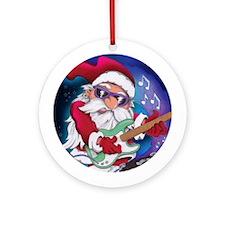 Rockin' Santa Christmas Ornament (Round)