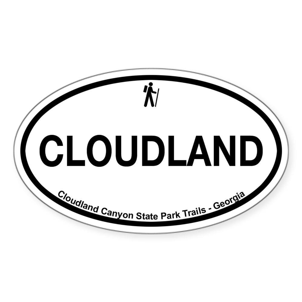 421960426 CafePress Cloudland Canyon State Park Trails Sticker Oval